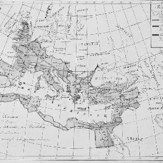 디오클레티아누스에 의한 사분할 통치시대 로마 제국 지도