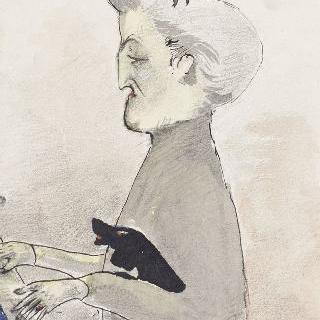 그녀의 딸이 파리에서 기획한 무용 수업에서 피아노를 치는 미쉰 부인