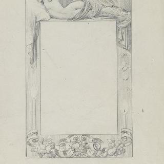 페이지 테두리 : 누워있는 나체의 여인 뒷모습