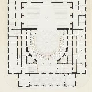 랭스 극장, 1층 도면