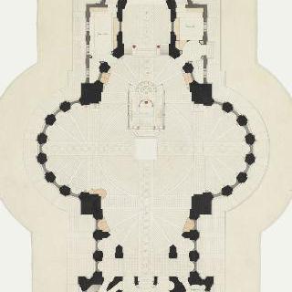 랭스의 성 클로틸드 대성당 : 도면