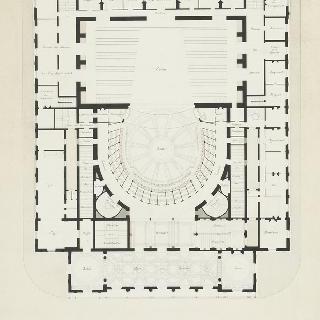 랭스 극장, 2층 도면