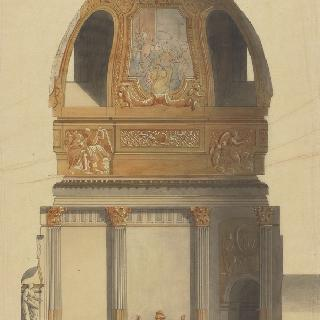 앵발리드의 성제롬 예배당 : 횡단면