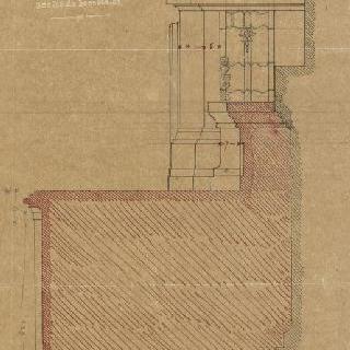 앵발리드의 성제롬 예배당 : 제단, 감실의 측면 입면도와 제단의 둥근 지붕