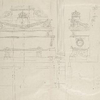 앵발리드의 성제롬 예배당 : 무덤, 측면과 정면 입면도