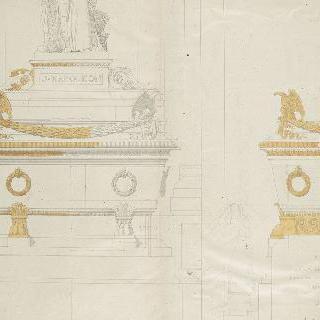 앵발리드의 성제롬 예배당 : 왕의 무덤, 측면과 정면 입면도