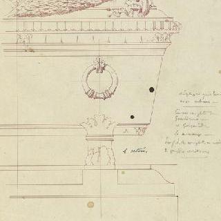 앵발리드의 성제롬 예배당 : 왕의 무덤, 부분 입면도