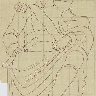 앵발리드의 성제롬 예배당 : 제롬 왕의 동상 초벌화