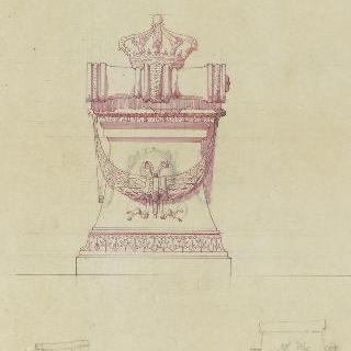 앵발리드의 성제롬 예배당 : 카트린 드 뷔텐베르그 왕비의 중앙 무덤