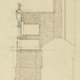 앵발리드의 성제롬 예배당 : 제단, 횡단면