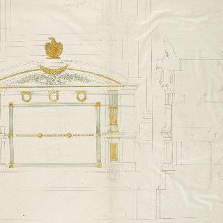 앵발리드의 성제롬 예배당 : 장례 묘비, 입면도와 절단면