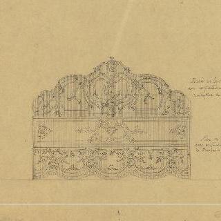 18세기 양식의 침대 앞