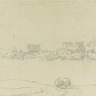 바새필래 섬의 신전의 전경