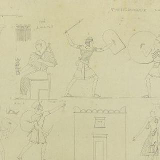 테베, 신전의 세부 묘사, 장식