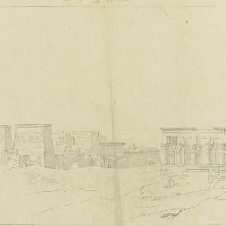 바새필래, 동쪽 건축물의 전경