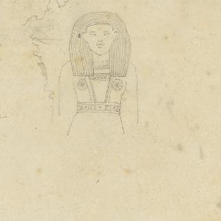 이집트인의 앞모습, 기둥머리와 고딕식 창의 장식 틀