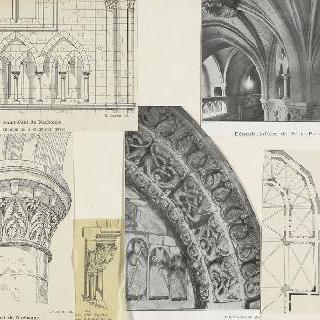 성폴 드 나르본 성당, 중앙 홀의 트리포리움 난간의 기둥머리