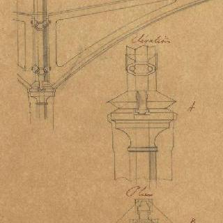 파리의 중앙 시장, 기둥의 세부 묘사