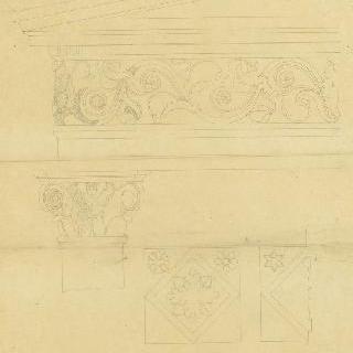 건물의 수평부, 폼페이의 무덤들의 길, 기둥머리와 기둥, 격자