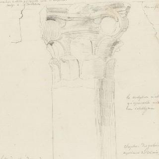 로마 콜로세움, 위쪽 회랑들의 기둥머리