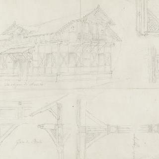 독일과 스위스 역의 장식 세부 묘사 : 안스타드트 역의 가옥