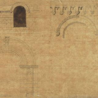 조각된 세 개의 로마의 트인 공간