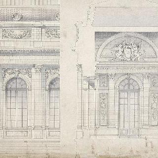 1층의 왕궁 : 중앙 입면도의 일부, 수직면의 정면