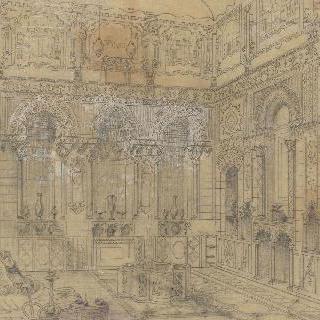 다마의 부유한 저택의 리셉션장