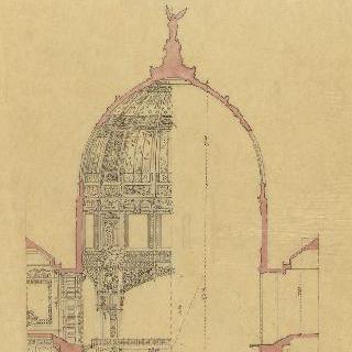 1889년 세계 박람회, 중앙 돔의 절단면과 조제프 부브라르의 정자 절단면