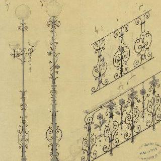 계단 난간과 가로등 계획안