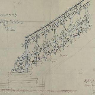랭스의 뭄 저택의 계단 난간 계획안