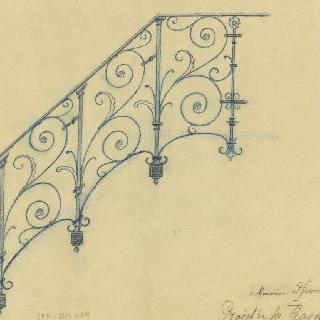 우르블랭 저택의 계단 난간 계획안