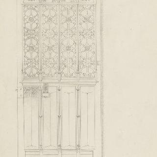 고딕 양식의 영감을 받은 기념물의 격자