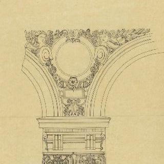 파리의 오페라 극장, 긴 계단, 수평부와 아케이드 기둥