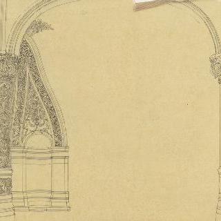 파리의 오페라 극장, 현관 높이의 계단 난간의 기둥