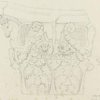 로마 복수하는 마르스의 신전, 기둥머리