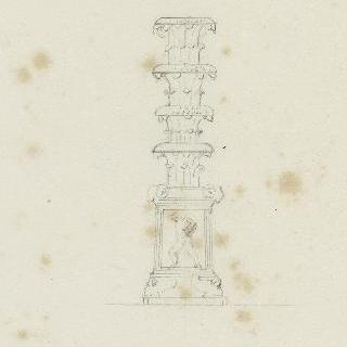 로마 바티칸 박물관, 저부조 장식 받침이 있는 촛대