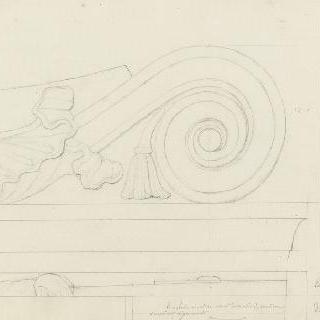 로마 스키피온의 무덤, 소용돌이꼴 장식 세부 묘사
