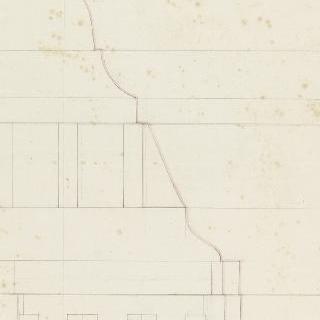 로마 스키피온의 무덤, 코니스 단면도