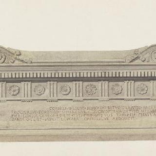로마 바티칸 박물관, 스키피온의 무덤, 입면도와 단면도
