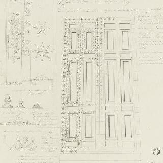 로마 성장뒤라트란 대성당, 청동 중앙 문과 세부 묘사