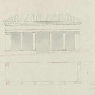 로마 블라브르의 성조르주 성당, 주랑, 도면과 입면도