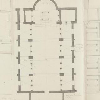 로마 성프라세드 성당, 도면, 측랑의 입면도