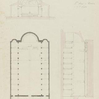 로마 산타마리아 인 돔니카 성당, 도면, 절단면