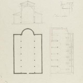 로마 성네레와 성 아실 성당, 도면, 횡단면과 종단면