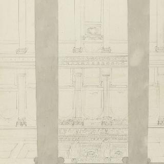 측랑의 중앙 홀에서 바라본 로마 성마리 마죄르 성당