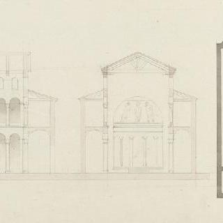 로마 성아그네스오르레뮈르 성당, 도면, 종단면과 횡단면