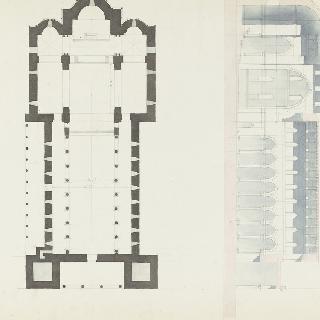 몬레알레 성당, 도면과 종단면