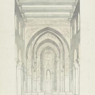 몬레알레 성당, 내진의 전경