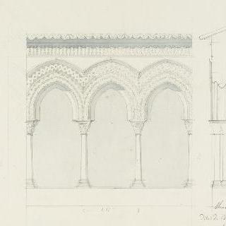 몬레알레 성당의 수도원, 아케이드 세부 묘사